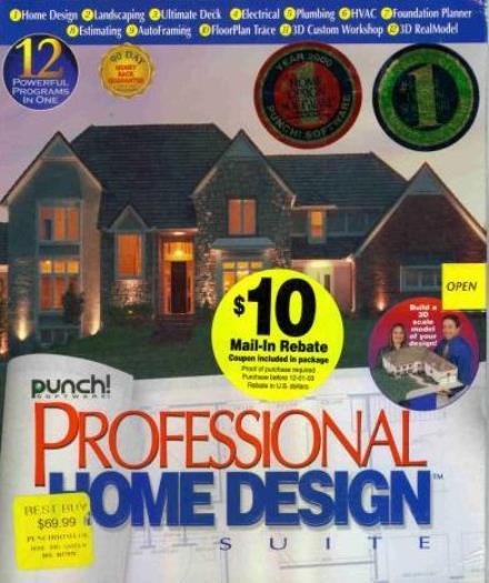 Punch Professional Home Design Suite PC CD Build House